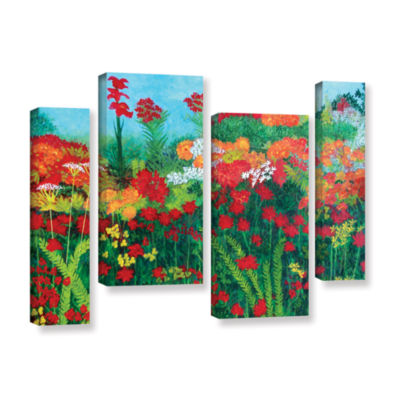 Brushstone Cheryl's Garden 4-pc. Gallery Wrapped Staggered Canvas Wall Art