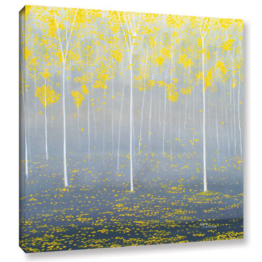 Brushstone Yellow Forest 2 Gallery Wrapped CanvasWall Art