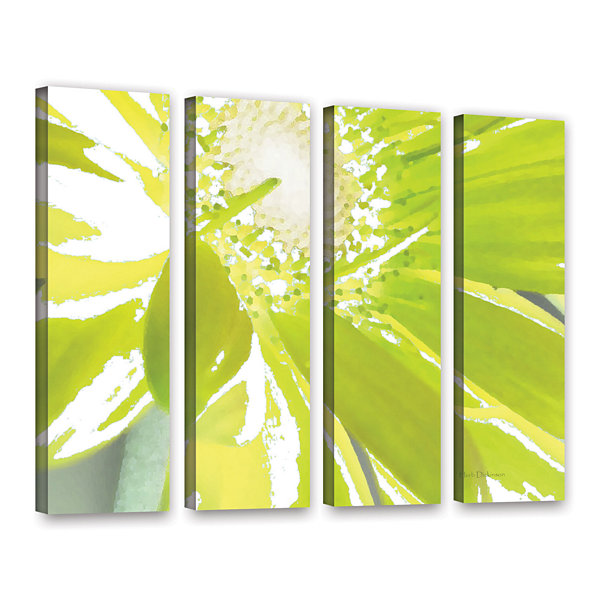 Brushstone Gerber Time IV 4-pc. Gallery Wrapped Canvas Wall Art
