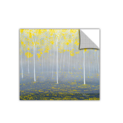 Brushstone Yellow Forest 2 Removable Wall Decal
