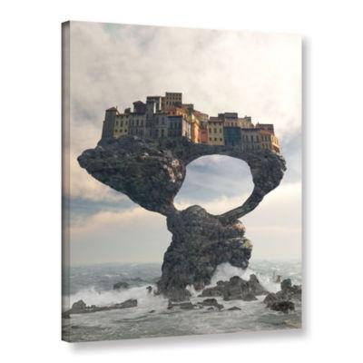 Brushstone Precarious Gallery Wrapped Canvas WallArt