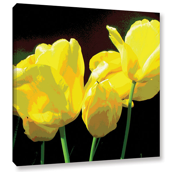 Brushstone Yellow Tulips 2 Gallery Wrapped CanvasWall Art