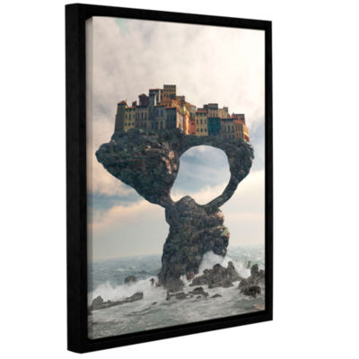 Brushstone Precarious Gallery Wrapped Floater-Framed Canvas Wall Art