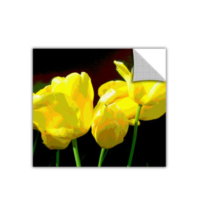 Brushstone Yellow Tulips 2 Removable Wall Decal
