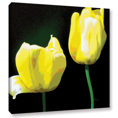 Brushstone Yellow Tulips Gallery Wrapped Canvas Wall Art