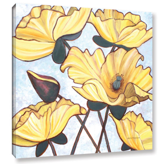Brushstone Golden Blooms Gallery Wrapped Canvas Wall Art