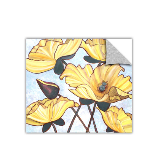 Brushstone Golden Blooms Removable Wall Decal