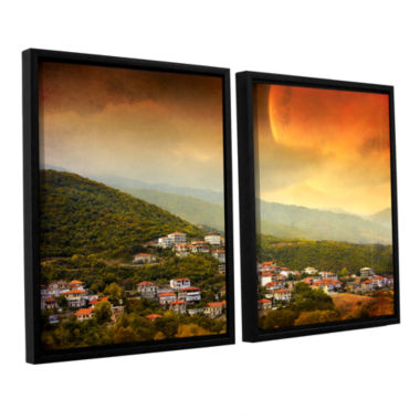 Brushstone Red Dawn 2-pc. Floater Framed Canvas Wall Art