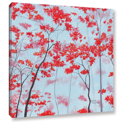 Brushstone Red Forest Gallery Wrapped Canvas WallArt