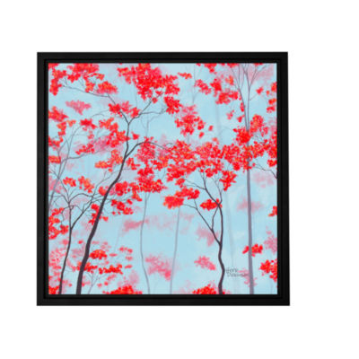 Brushstone Red Forest Gallery Wrapped Floater-Framed Canvas Wall Art