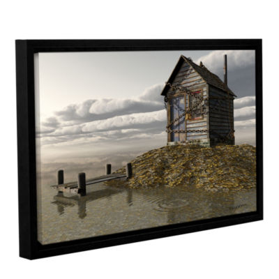 Brushstone Locked Out Gallery Wrapped Floater-Framed Canvas Wall Art