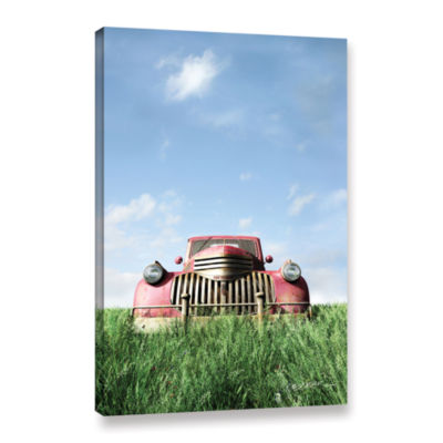 Brushstone Red Truck Gallery Wrapped Canvas Wall Art