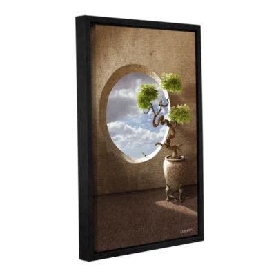 Brushstone Haiku Gallery Wrapped Floater-Framed Canvas Wall Art