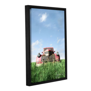 Brushstone Red Truck Gallery Wrapped Floater-Framed Canvas Wall Art