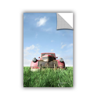 Brushstone Red Truck Removable Wall Decal