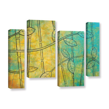 Brushstone Happy Jungle 4-pc. Gallery Wrapped Staggered Canvas Wall Art