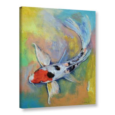 Brushstone Maruten Butterfly Koi Gallery Wrapped Canvas Wall Art