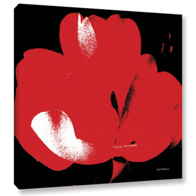 Brushstone Hot Blooms I Gallery Wrapped Canvas Wall Art