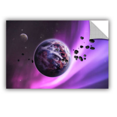 Brushstone Deep Purple Space Removable Wall Decal