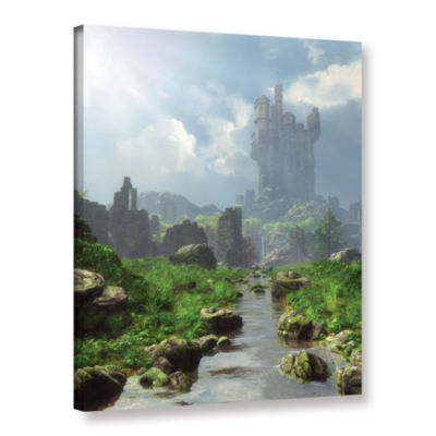 Brushstone Distant Castle Gallery Wrapped Canvas Wall Art