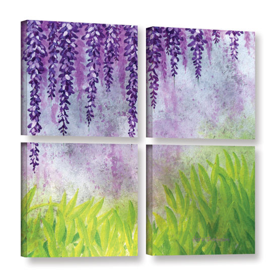 Brushstone Mellow Morning 4-pc. Square Gallery Wrapped Canvas