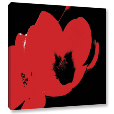 Brushstone Hot Blooms II Gallery Wrapped Canvas Wall Art