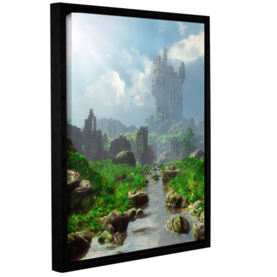 Brushstone Distant Castle Gallery Wrapped Floater-Framed Canvas Wall Art