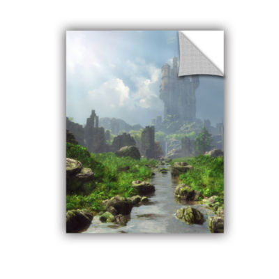 Brushstone Distant Castle Removable Wall Decal