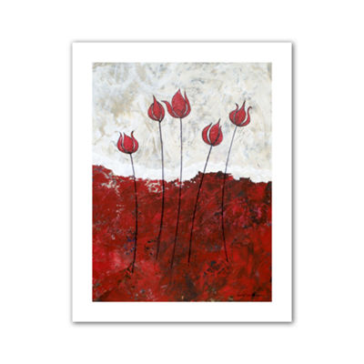 Brushstone Hot Blooms III Canvas Wall Art