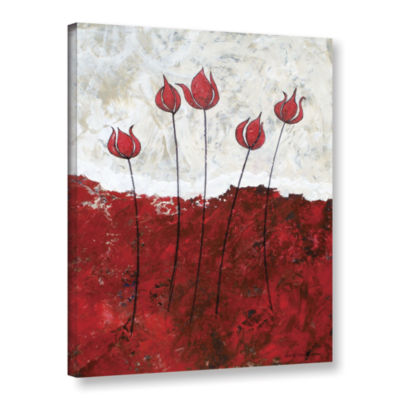 Brushstone Hot Blooms III Gallery Wrapped Canvas Wall Art