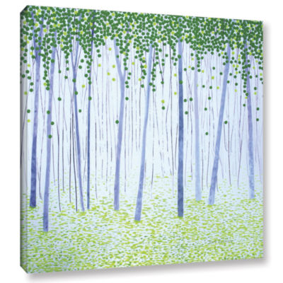 Brushstone Misty Woodlands Gallery Wrapped CanvasWall Art