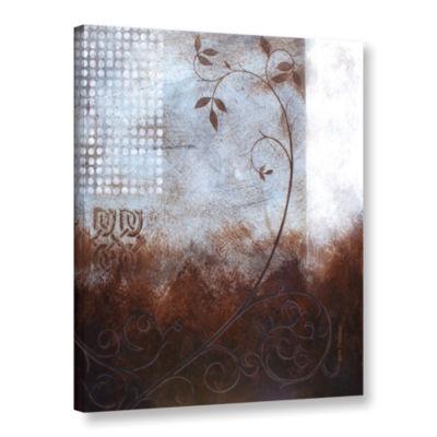 Brushstone Splashy Umber II Gallery Wrapped CanvasWall Art