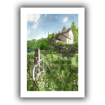Brushstone House on the Hill Canvas Wall Art