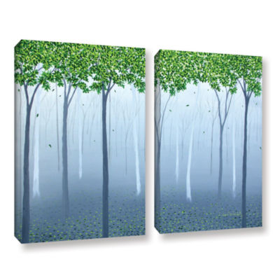 Brushstone Morning Dream 2-pc. Gallery Wrapped Canvas Wall Art