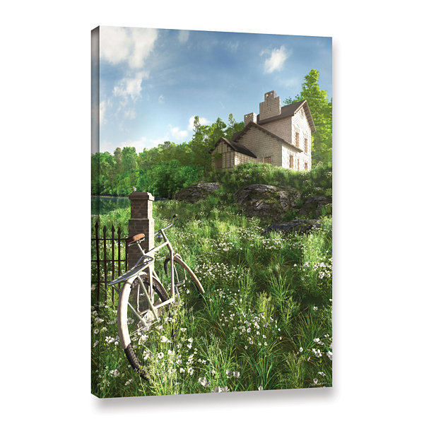 Brushstone House on the Hill Gallery Wrapped Canvas Wall Art