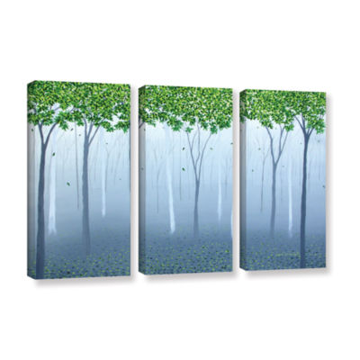 Brushstone Morning Dream 3-pc. Gallery Wrapped Canvas Wall Art