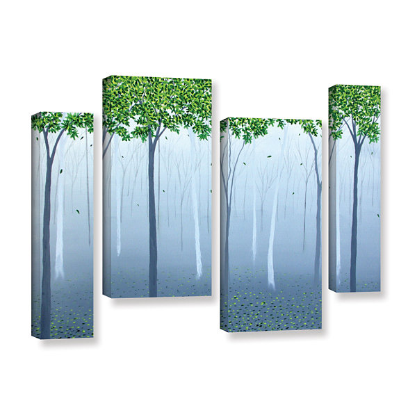 Brushstone Morning Dream 4-pc. Gallery Wrapped Staggered Canvas Wall Art
