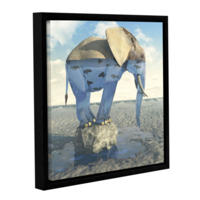 Brushstone Drinking Problem Gallery Wrapped Floater-Framed Canvas Wall Art