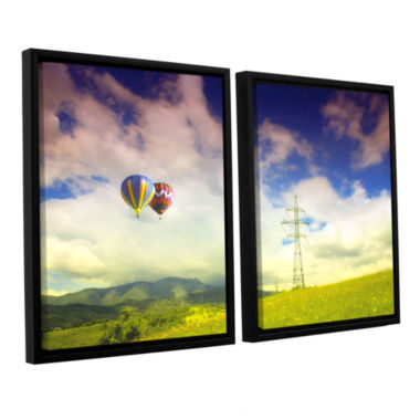 Brushstone Duo Magic 2-pc. Floater Framed Canvas Wall Art