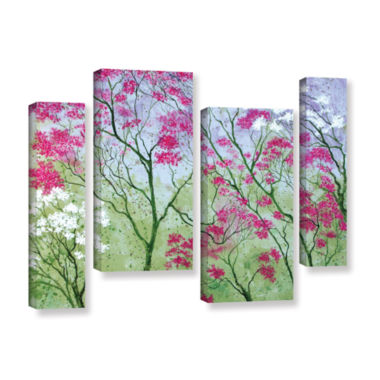 Brushstone Elysian 4-pc. Gallery Wrapped StaggeredCanvas Wall Art