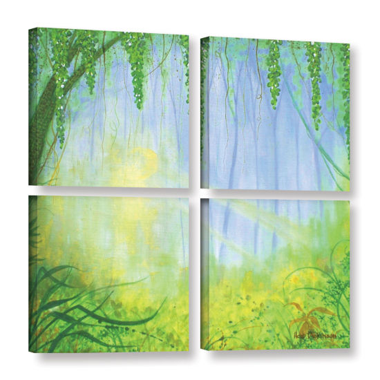Brushstone Morning Rays 4-pc. Square Gallery Wrapped Canvas
