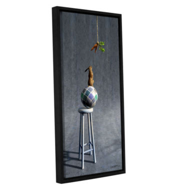 Brushstone Equilibrium 2 Gallery Wrapped Floater-Framed Canvas Wall Art