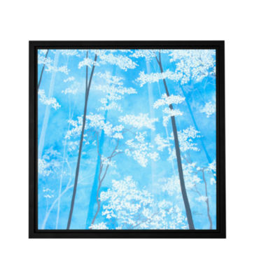 Brushstone Spring Forest 1 Gallery Wrapped Floater-Framed Canvas Wall Art