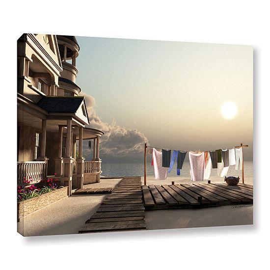 Brushstone Laundry Day Gallery Wrapped Canvas WallArt