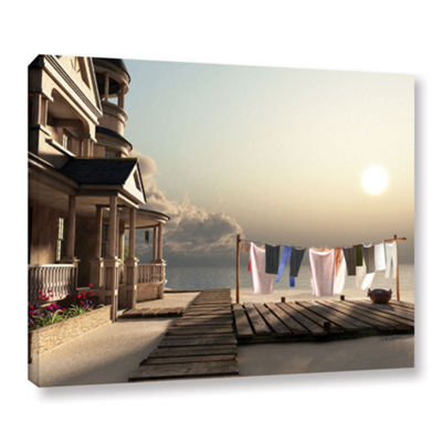 Brushstone Laundry Day Gallery Wrapped Canvas WallArt