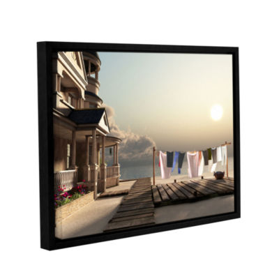Brushstone Laundry Day Gallery Wrapped Floater-Framed Canvas Wall Art
