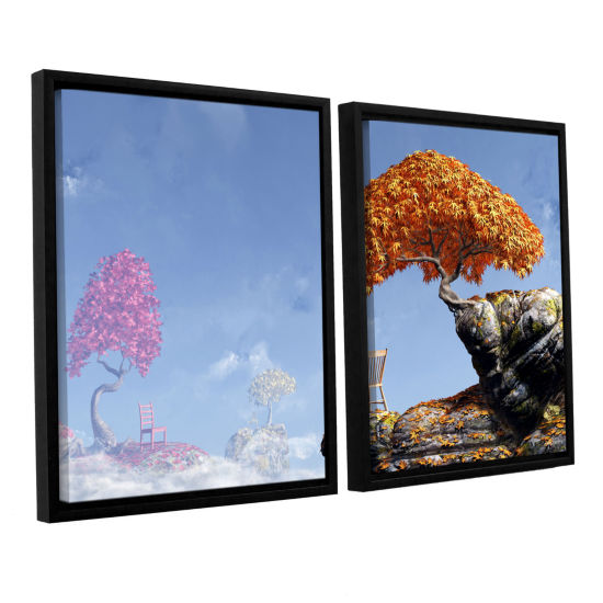 Brushstone Leaf Peepers 2-pc. Floater Framed Canvas Wall Art