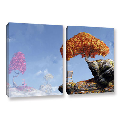 Brushstone Leaf Peepers 2-pc. Gallery Wrapped Canvas Wall Art