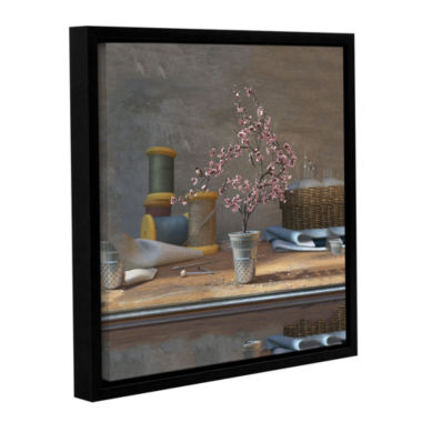 Brushstone Sew Tiny Gallery Wrapped Floater-FramedCanvas Wall Art