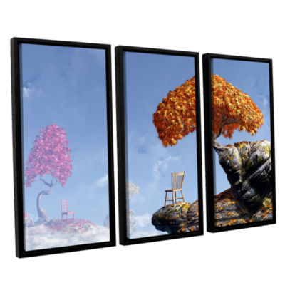 Brushstone Leaf Peepers 3-pc. Floater Framed Canvas Wall Art